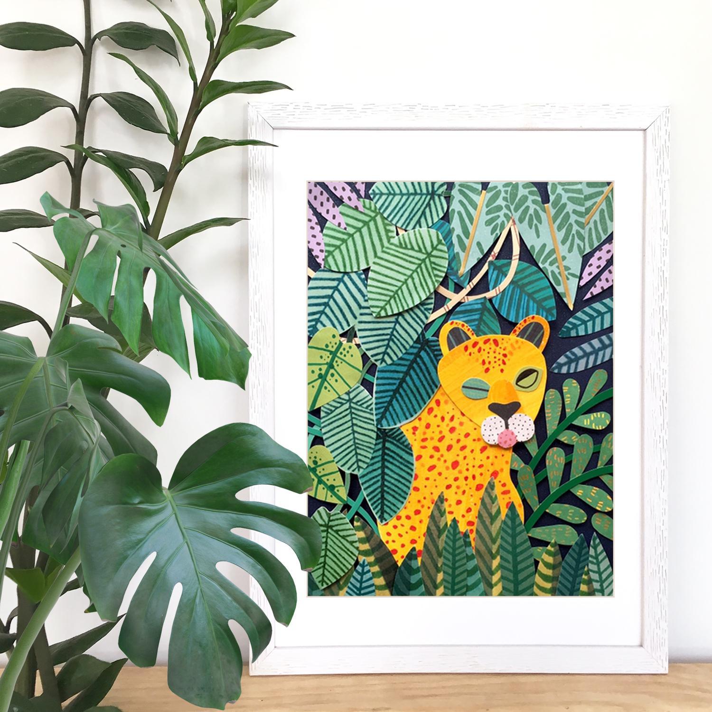 Jungle Cat Framed Artprint