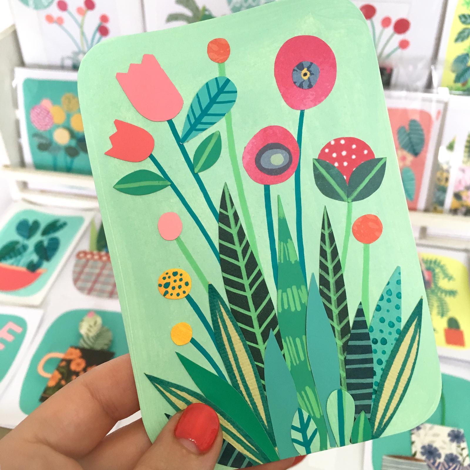 Wildflower Paper Collage