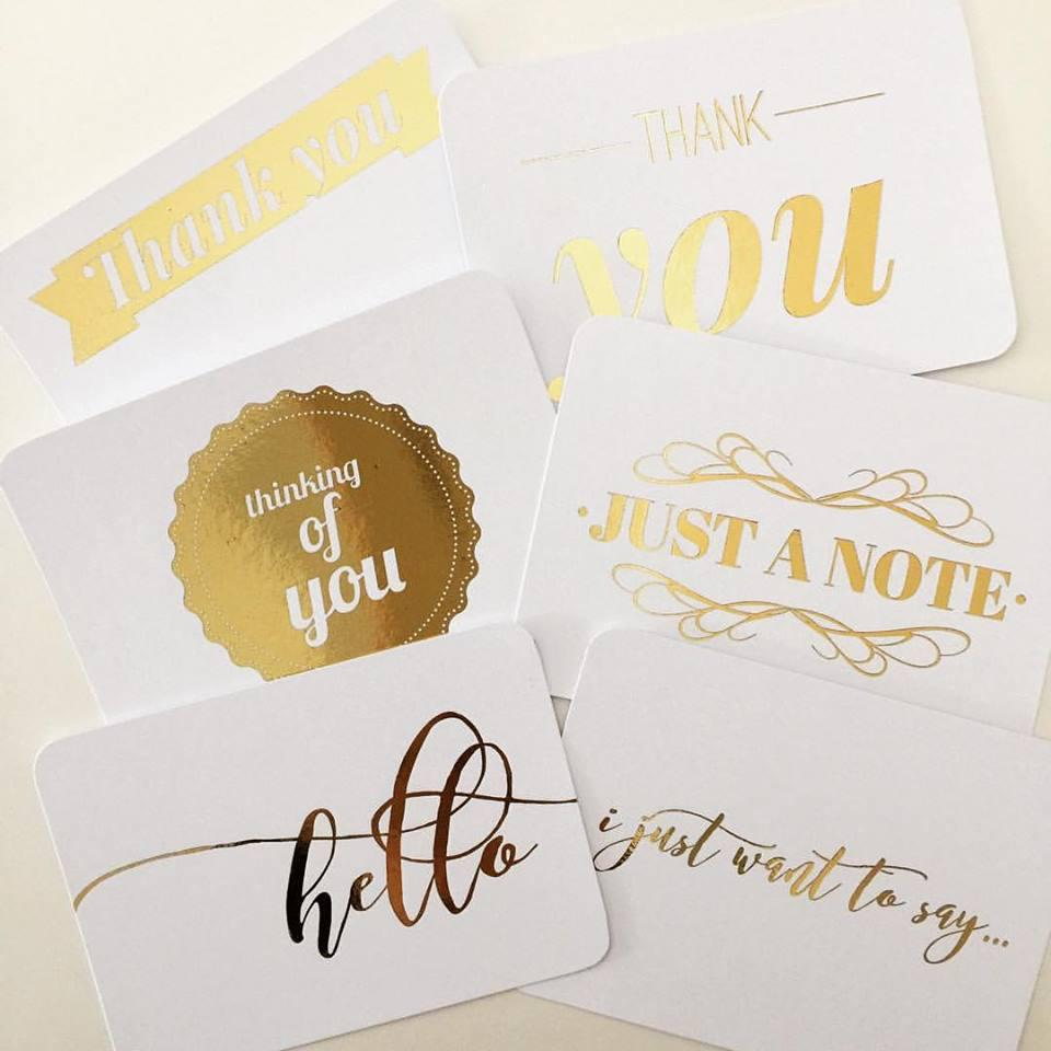 Gold Foiled Notecards