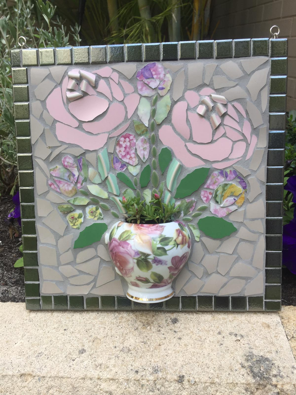 Teacup Mosaic - pink