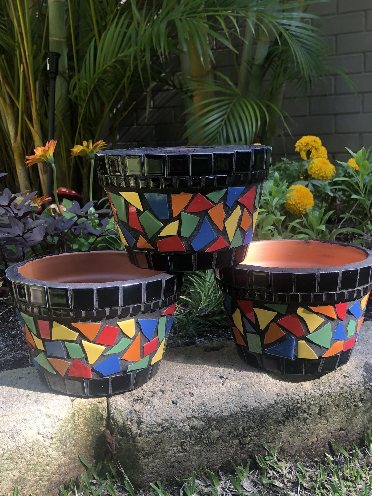 Colourful pot planters