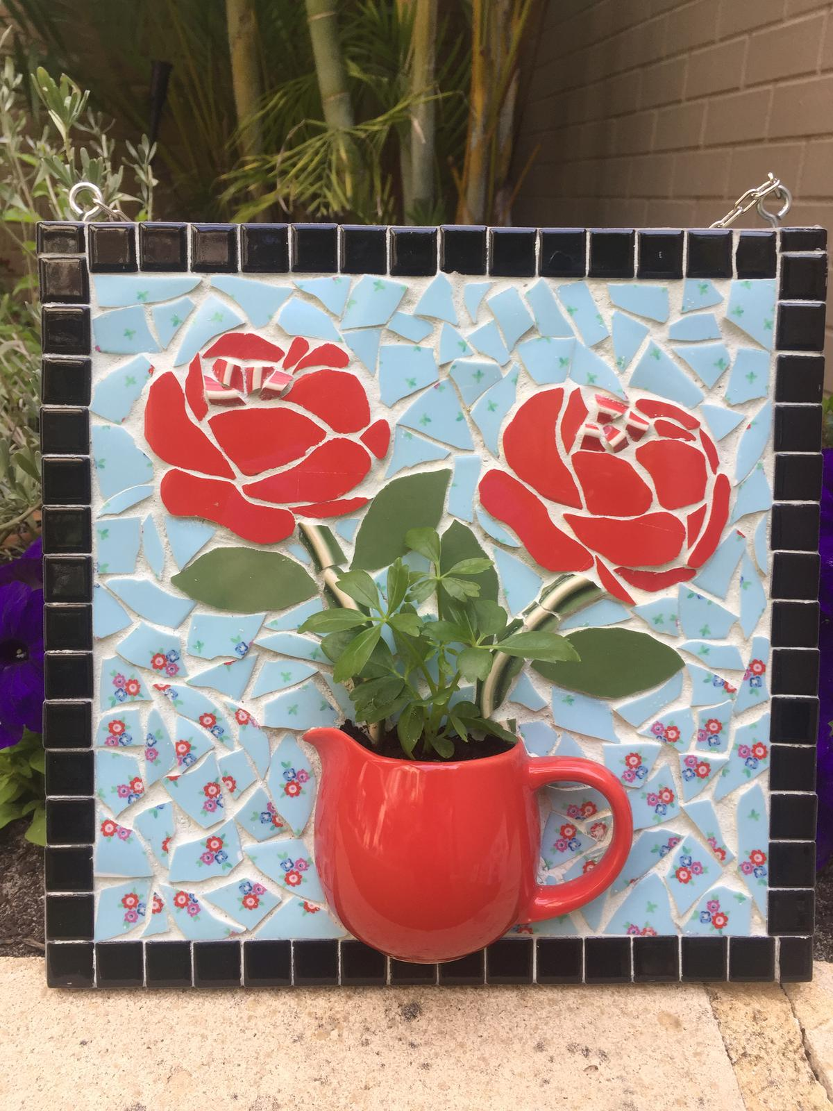 Teacup Mosaic - red