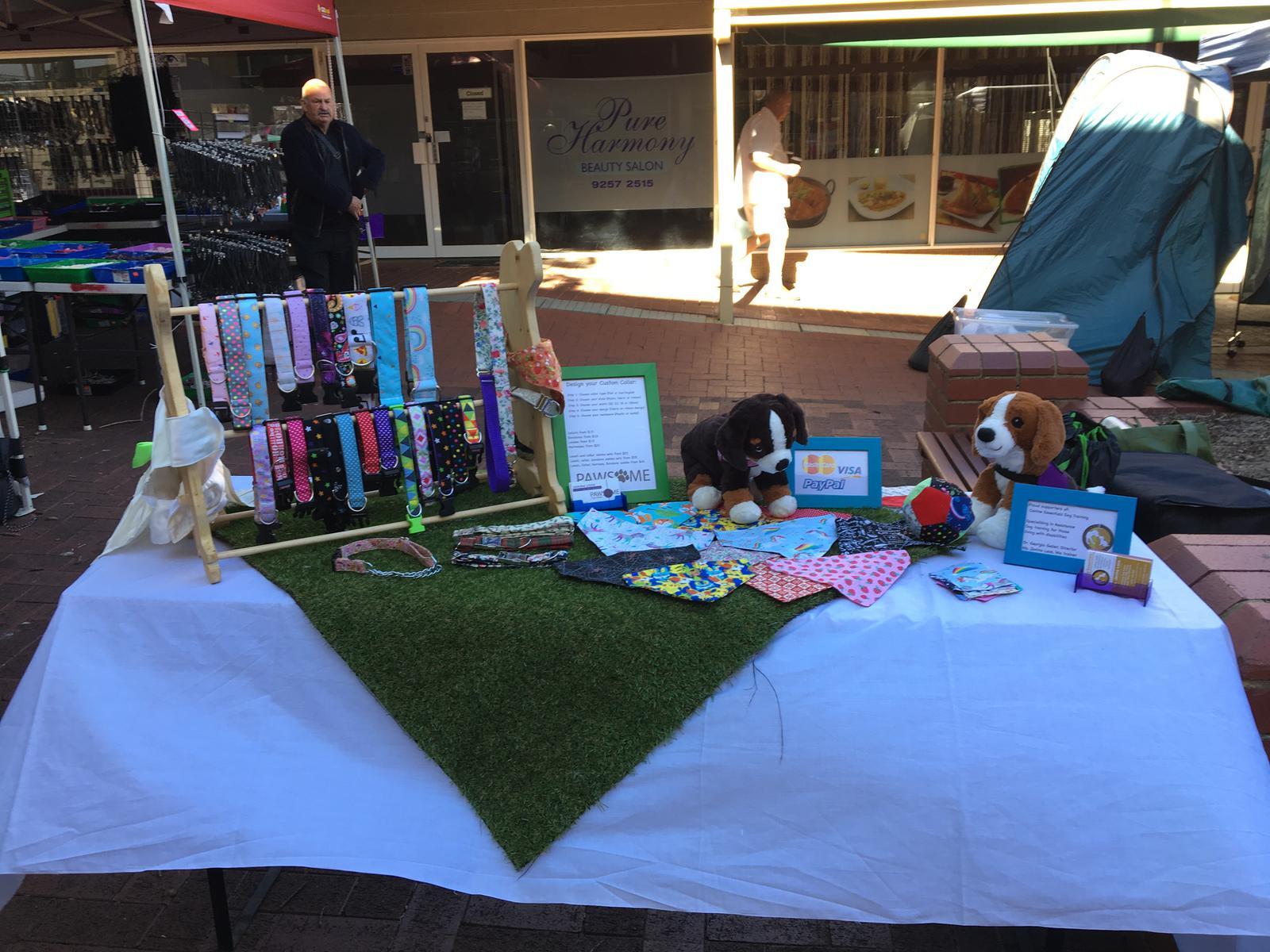 Pawsome Puppy Designs Market Stall