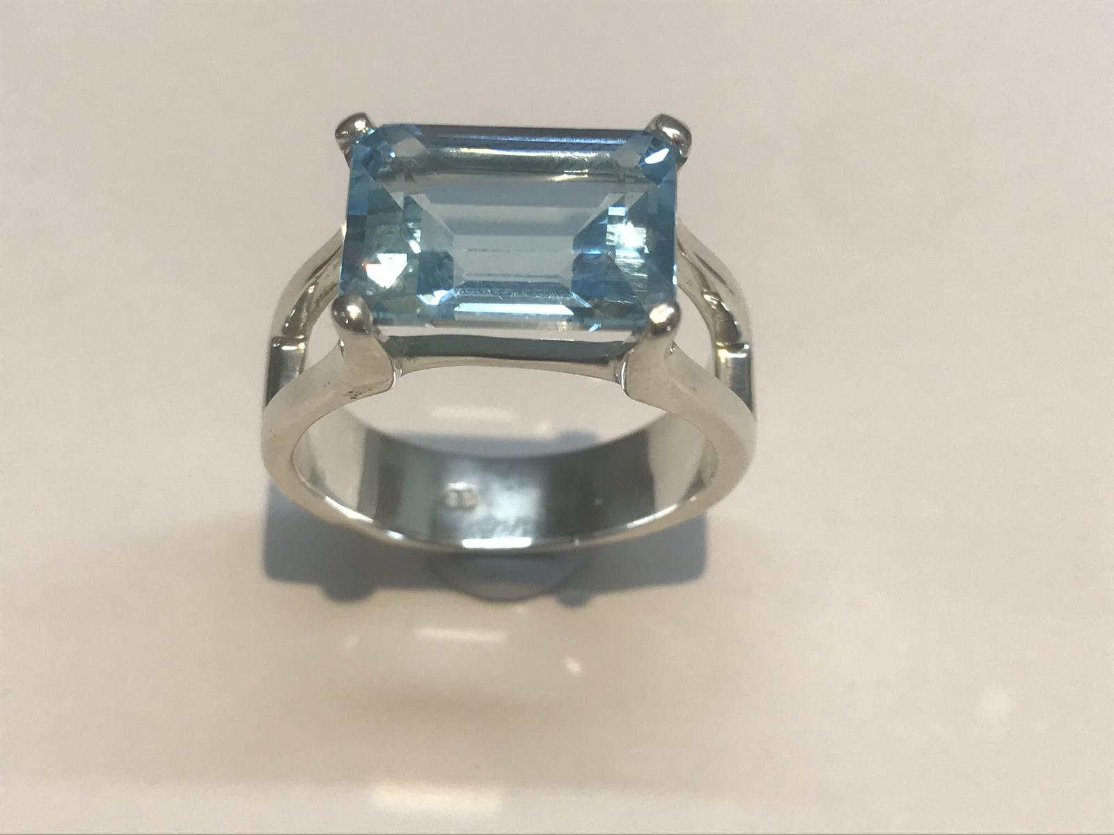 Handmade natural untreated Topaz in Sterling Silver.