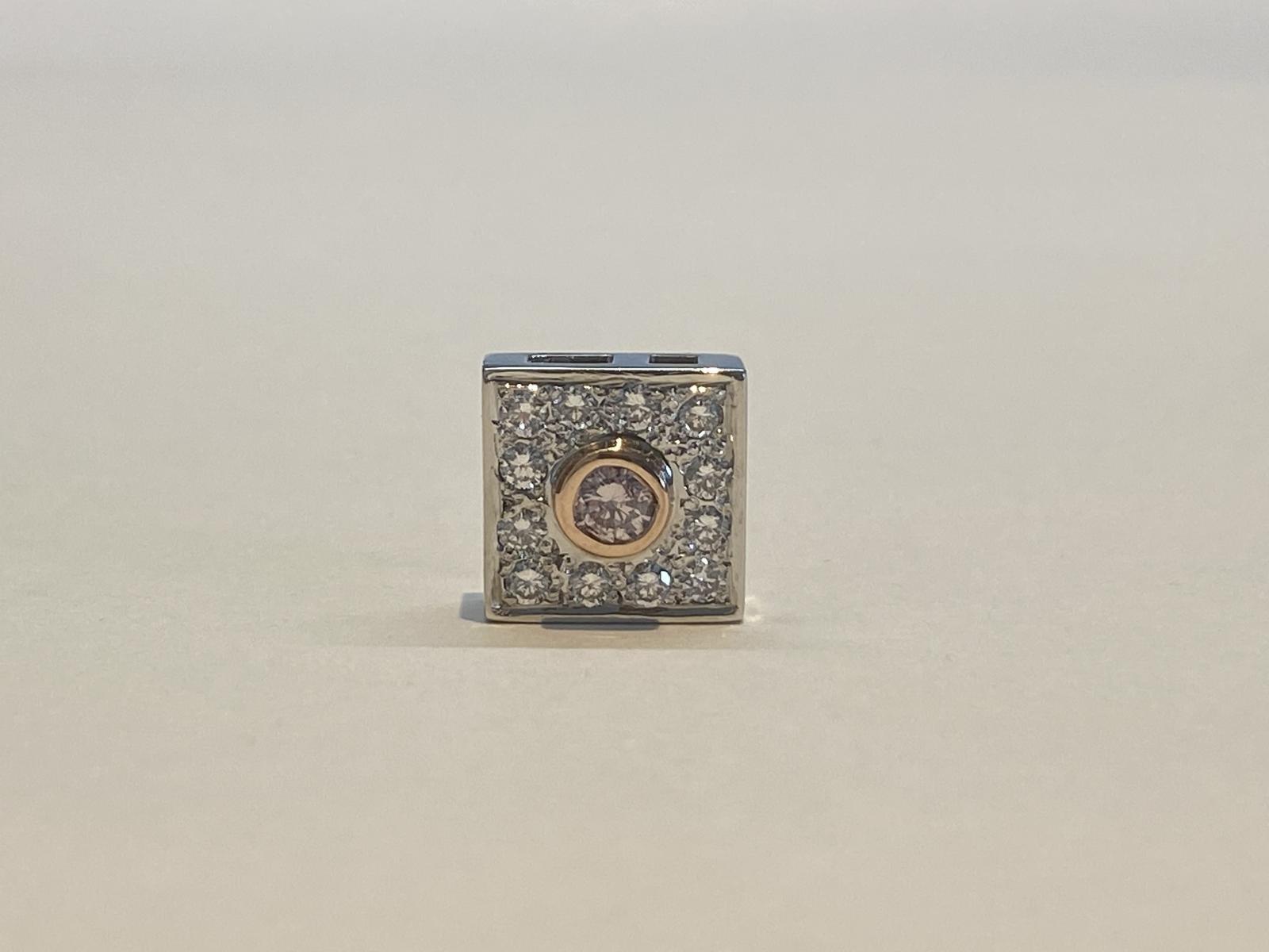 Certified Australian Pink Diamond Pendant