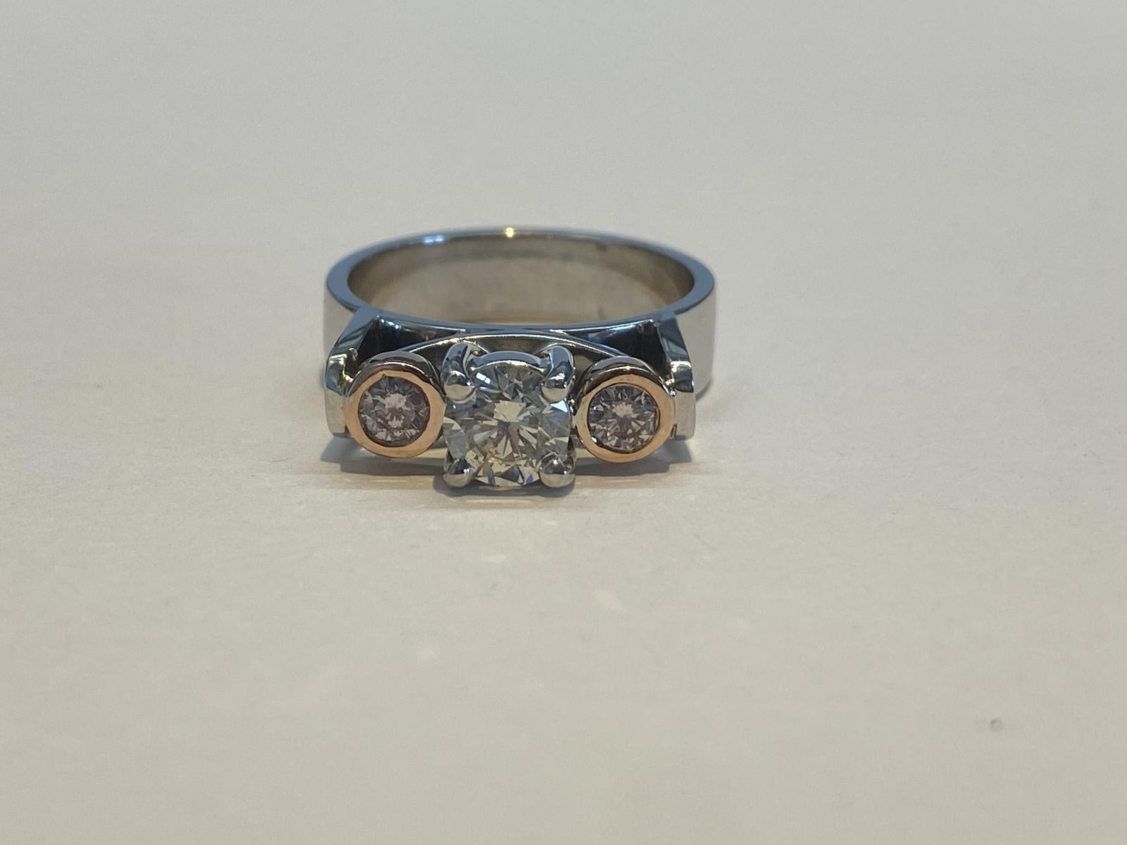 Certified Australian Pink Diamond Ring