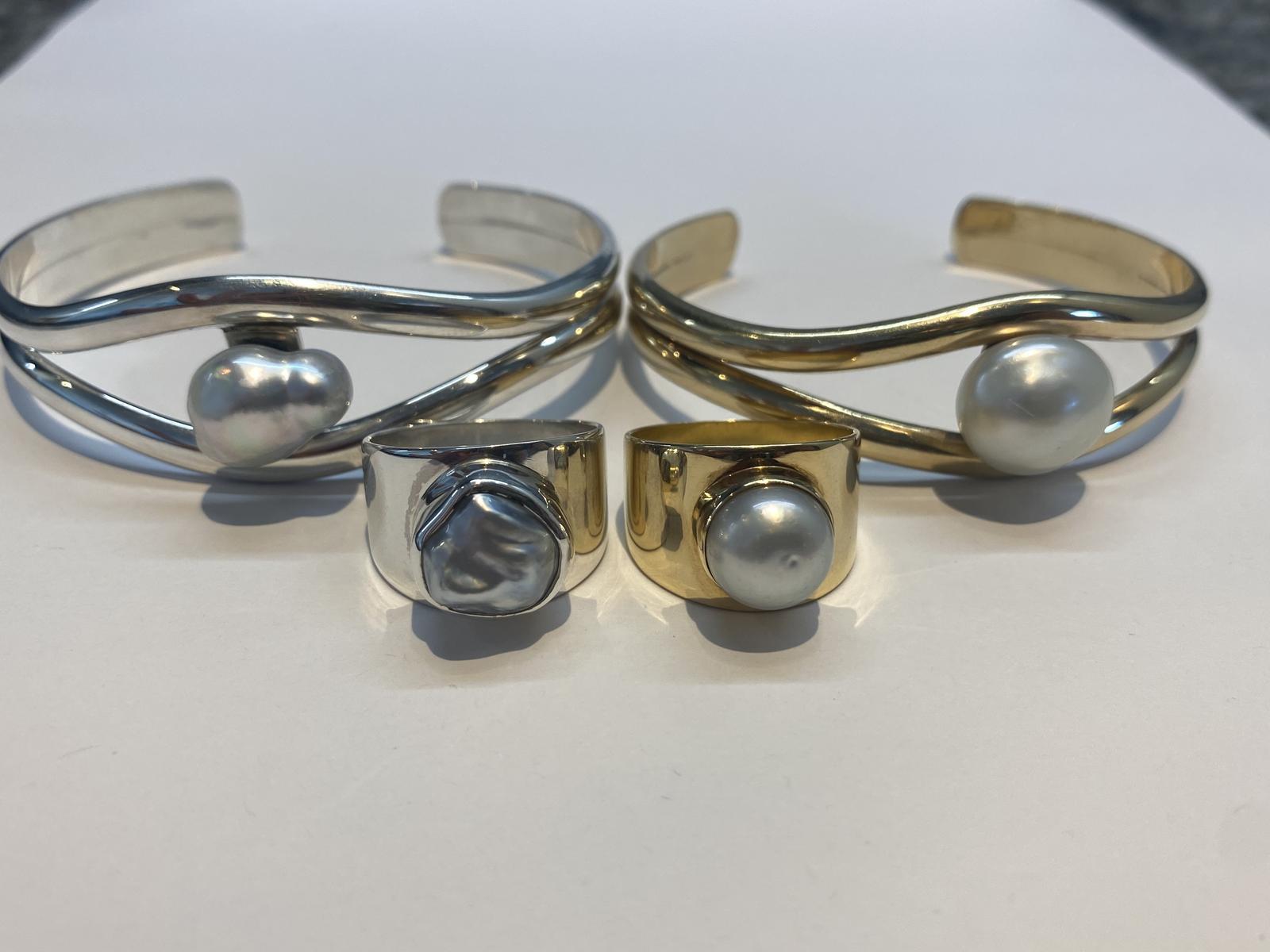 Handmade Keshi Bangles and Rings