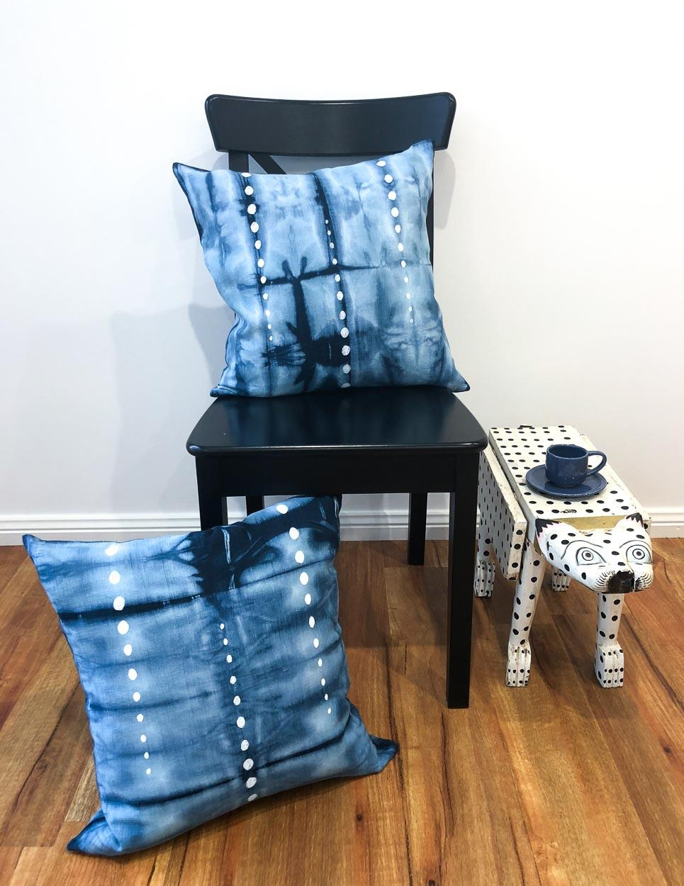 Shibori Cushion Cover with Spots