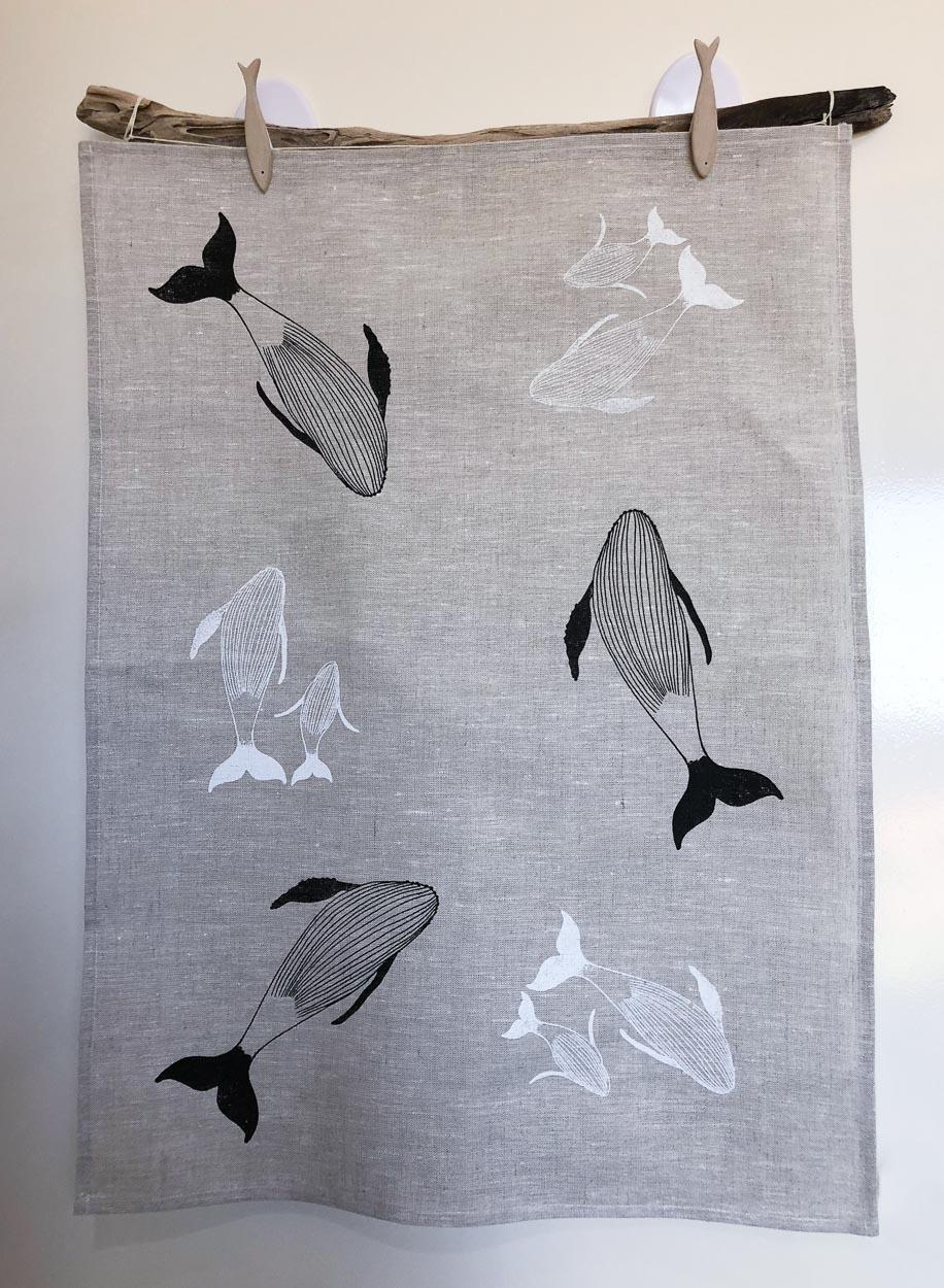 Humpback Whale Linen T-Towel