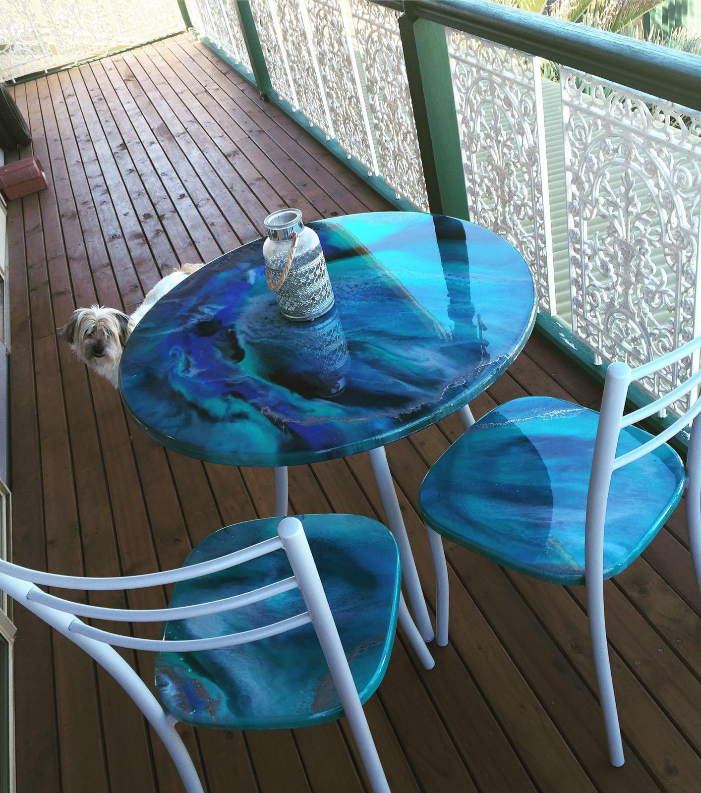 Bistro Set in Blues