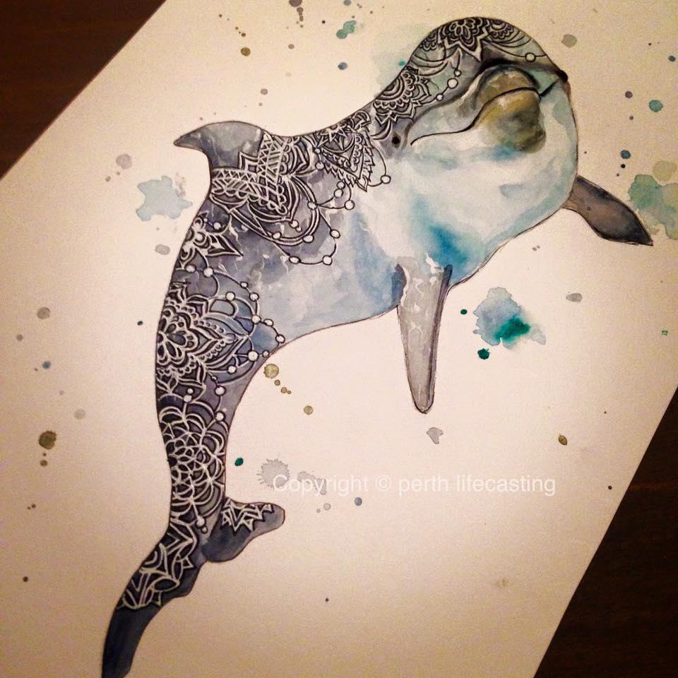 Boho Dolphin Art Print