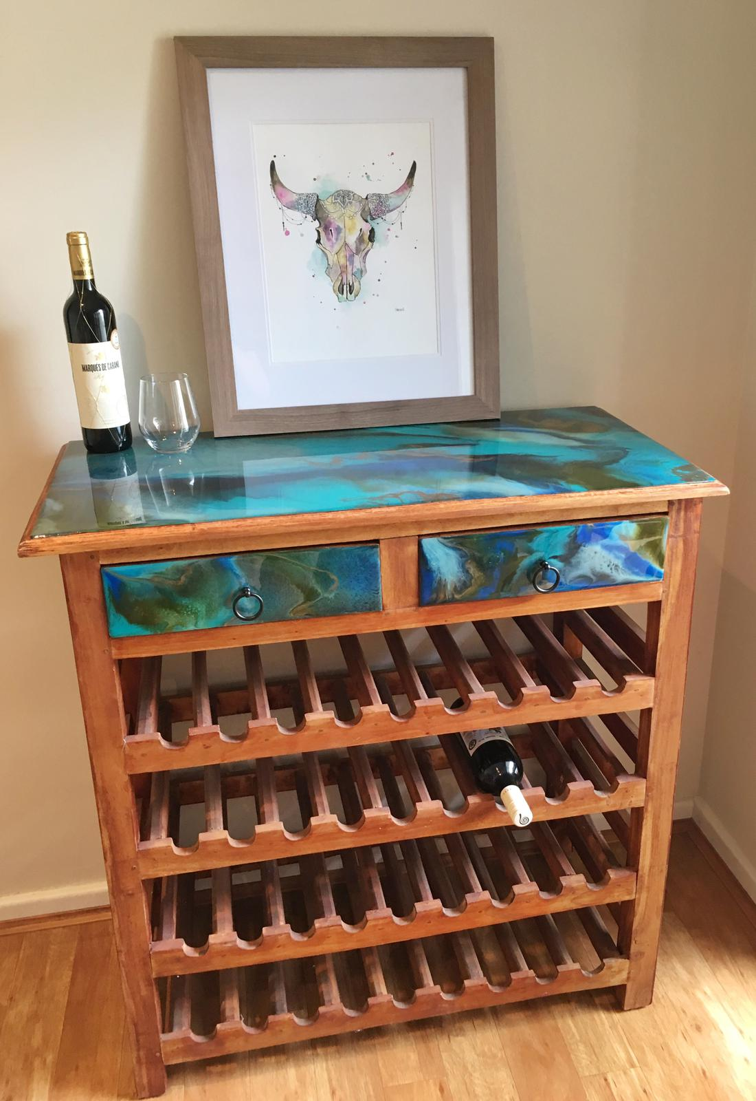 Resin Art Large Wine Rack