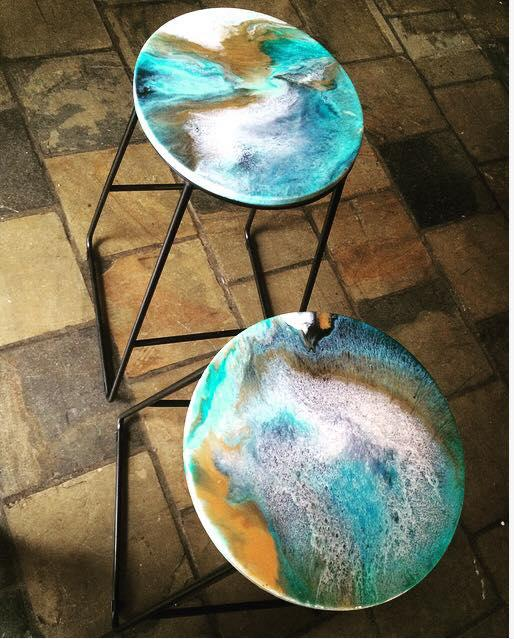 Upcycled Resin Bar Stools 2