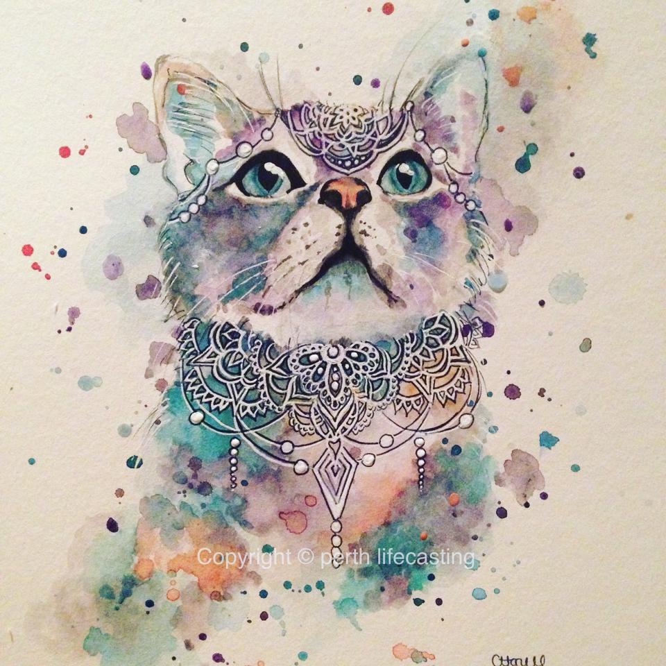 Boho Kitty Print