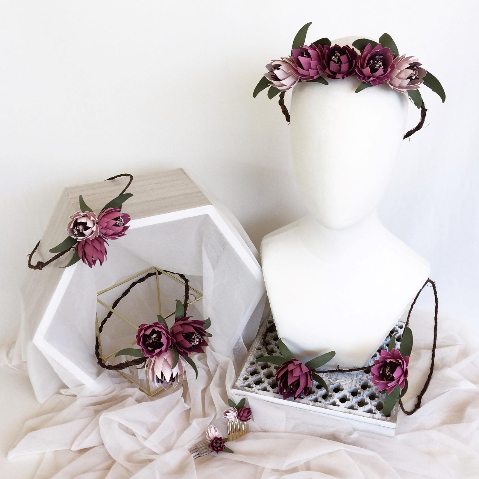 Paper Flower Protea Range Hair Accessories, Phantom Rose Artistry