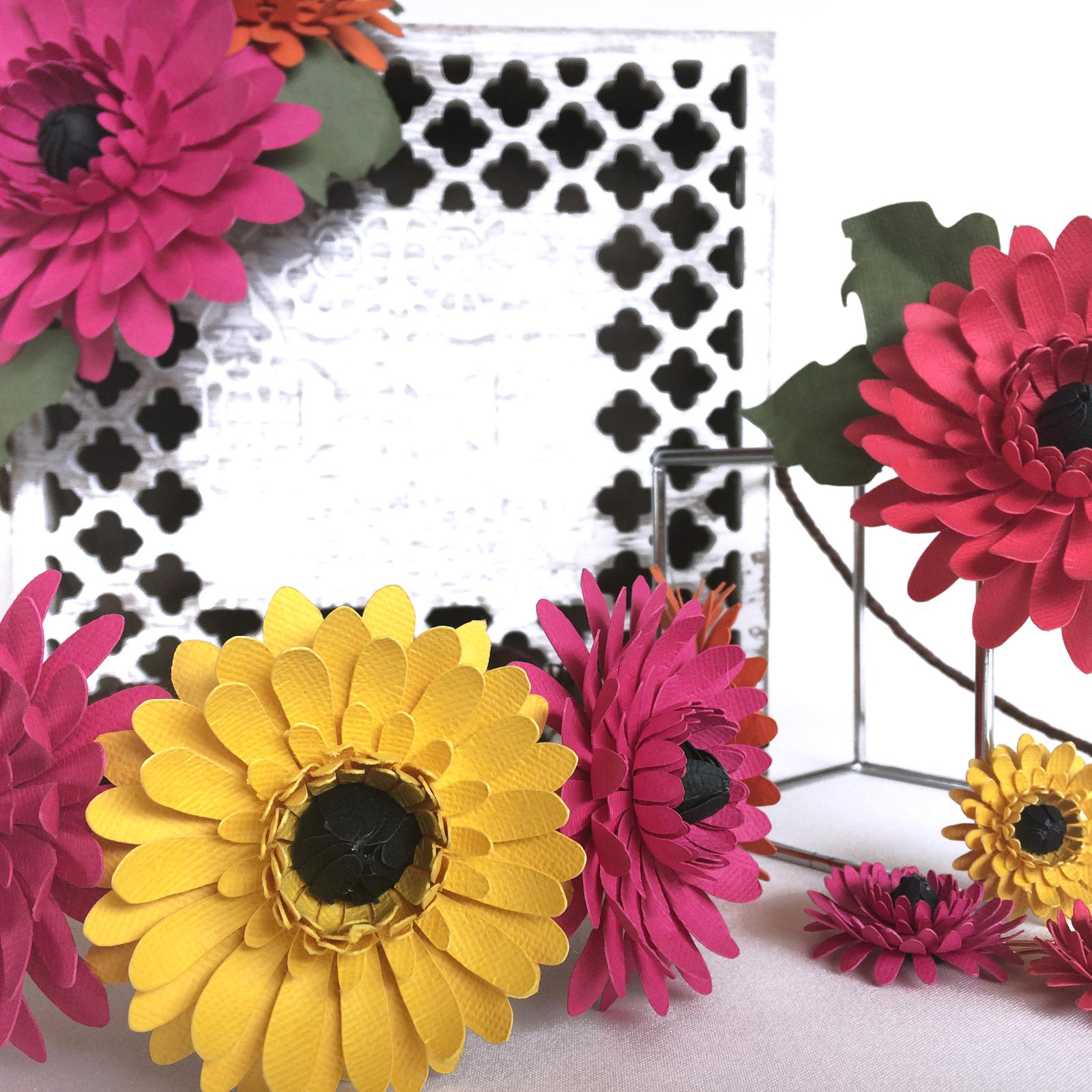 Paper Flower Gerbera Range Hair Accessories, Phantom Rose Artistry
