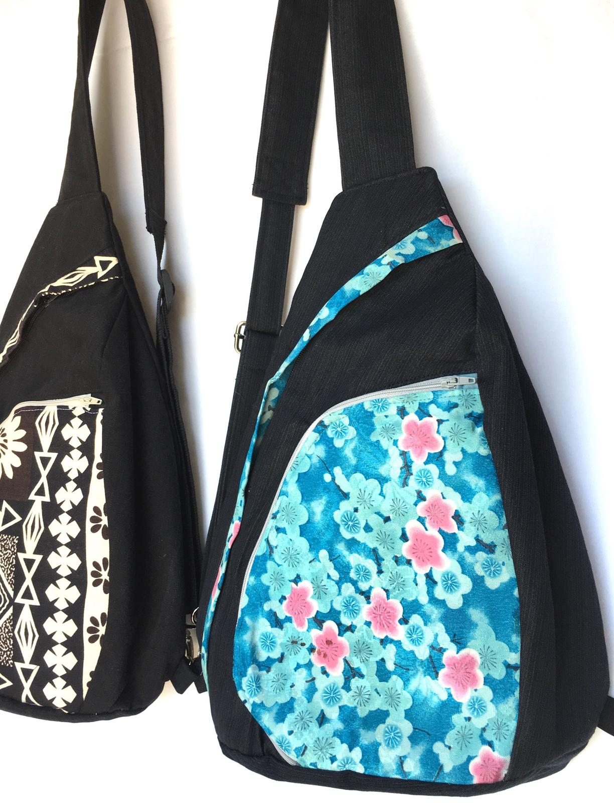 Teardrop back pack - upcycled textiles inc. silk kimono