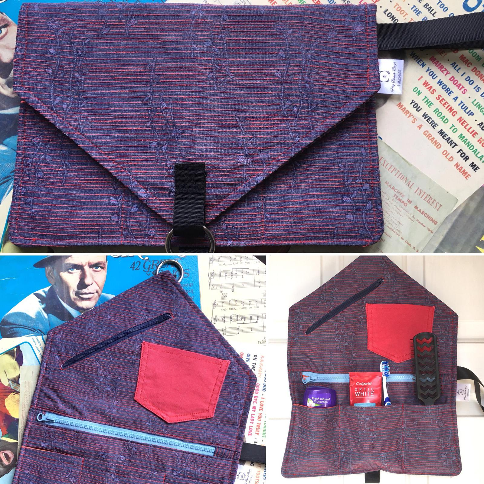 Hanging Toiletry Bag - Envelope Clutch style