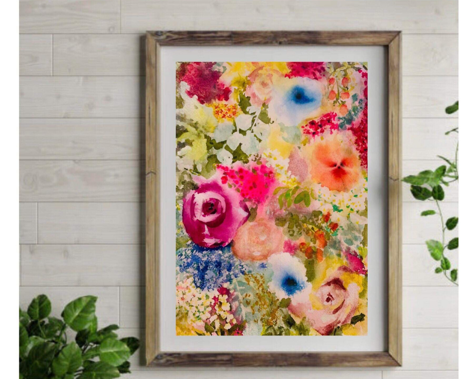 Bright floral in frame