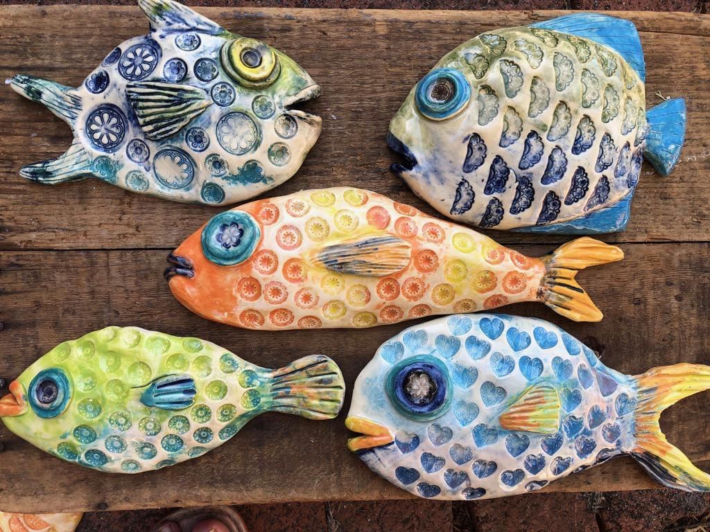 Fish wall pieces
