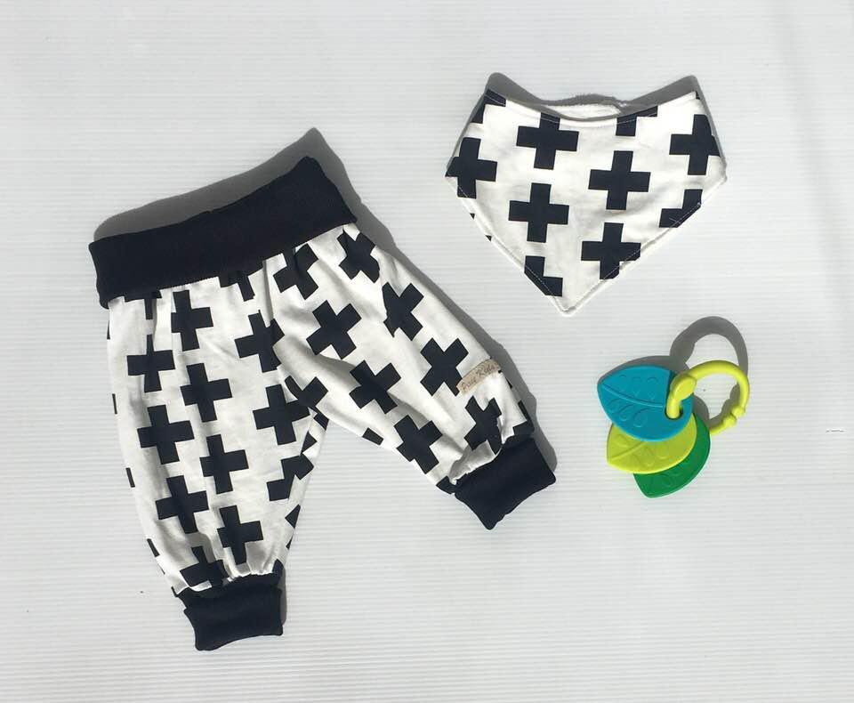 Drop Crotch Pants and Bib Set