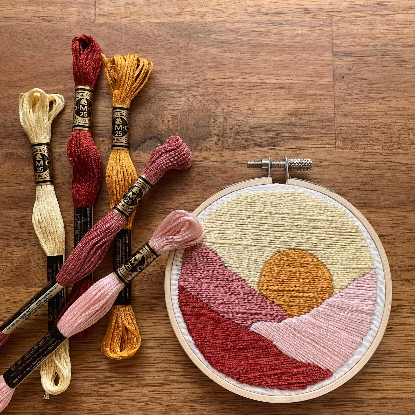 Sunset Embroidery Kit
