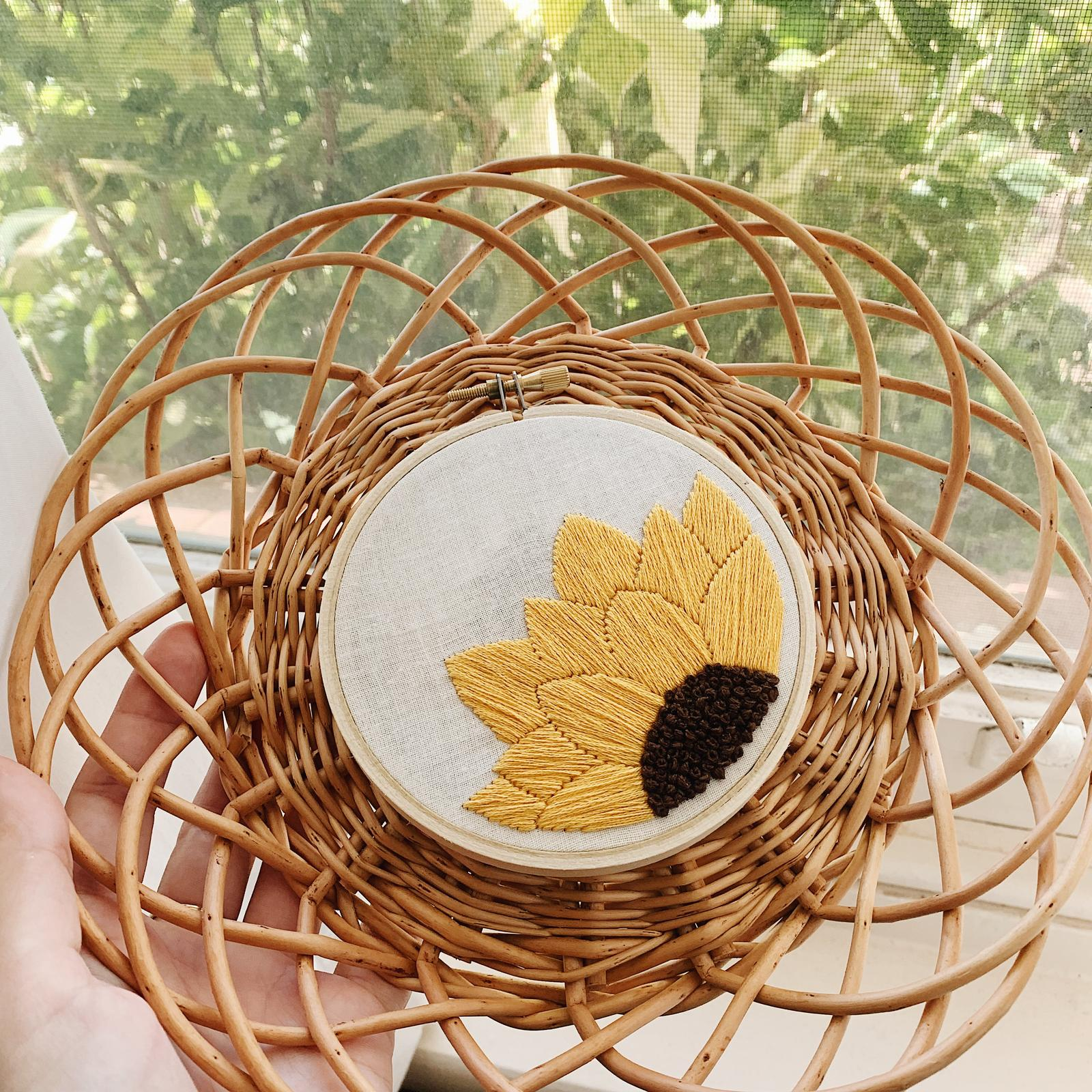 Sunflower Embroidery Kit