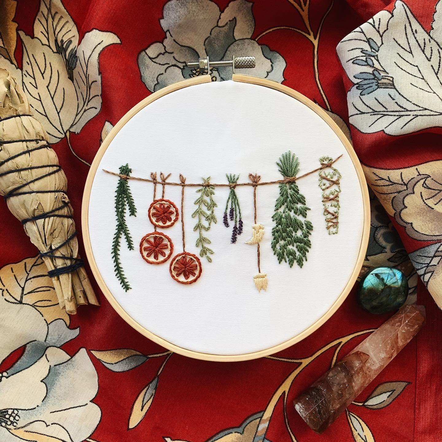 Witch's Pantry Embroidery Kit