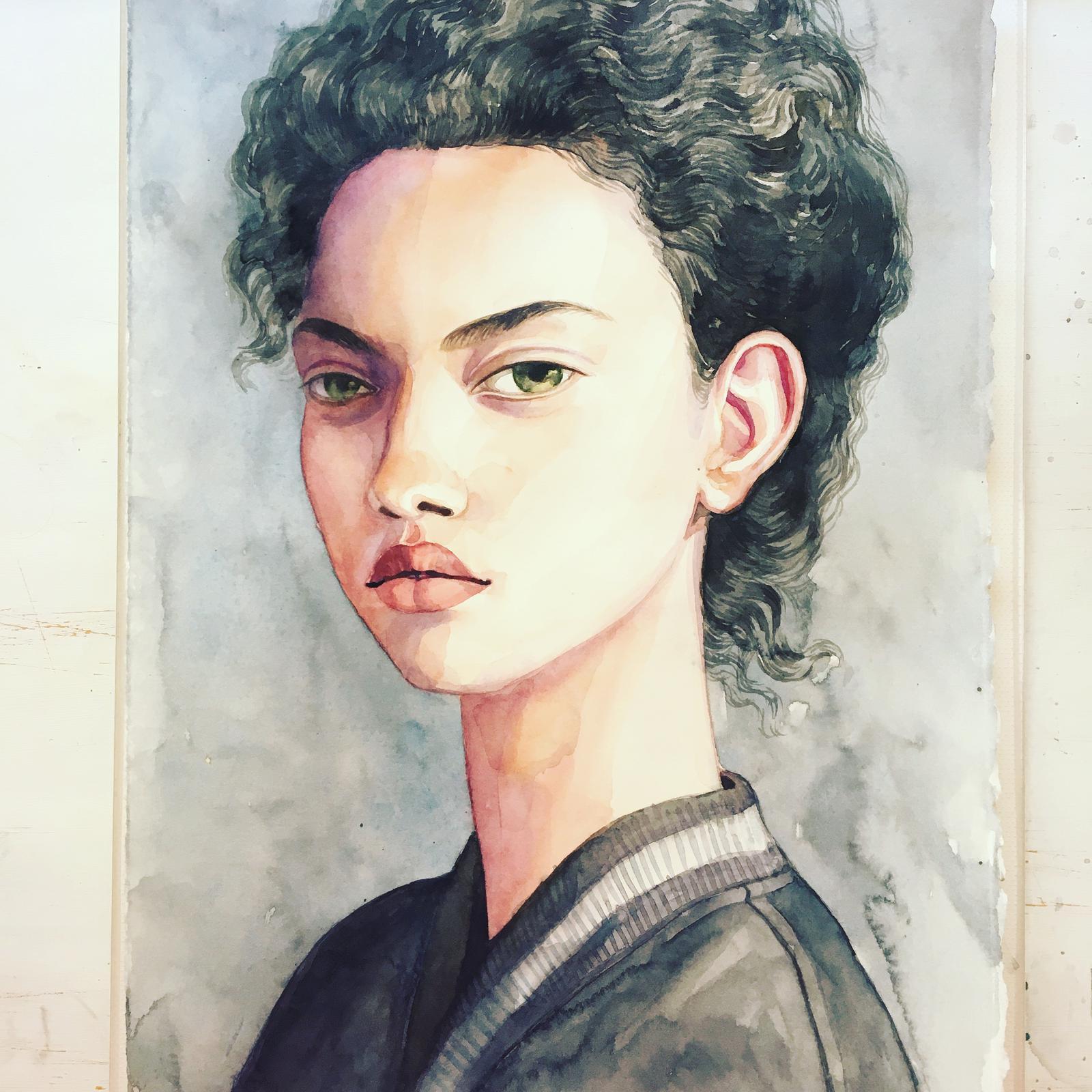 Sample of a portrait (watercolor)