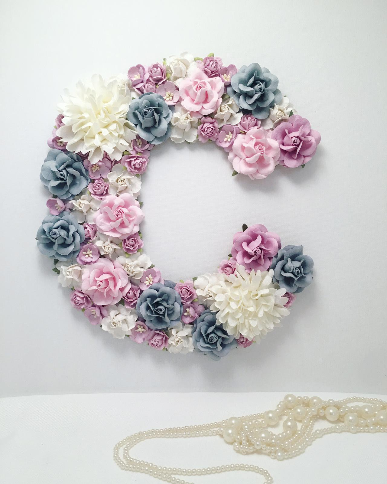 25cm letter with stunning blues
