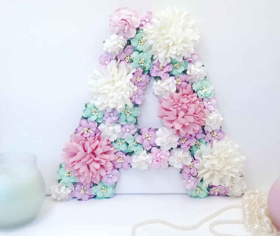25cm letter (or number) in pastel colours