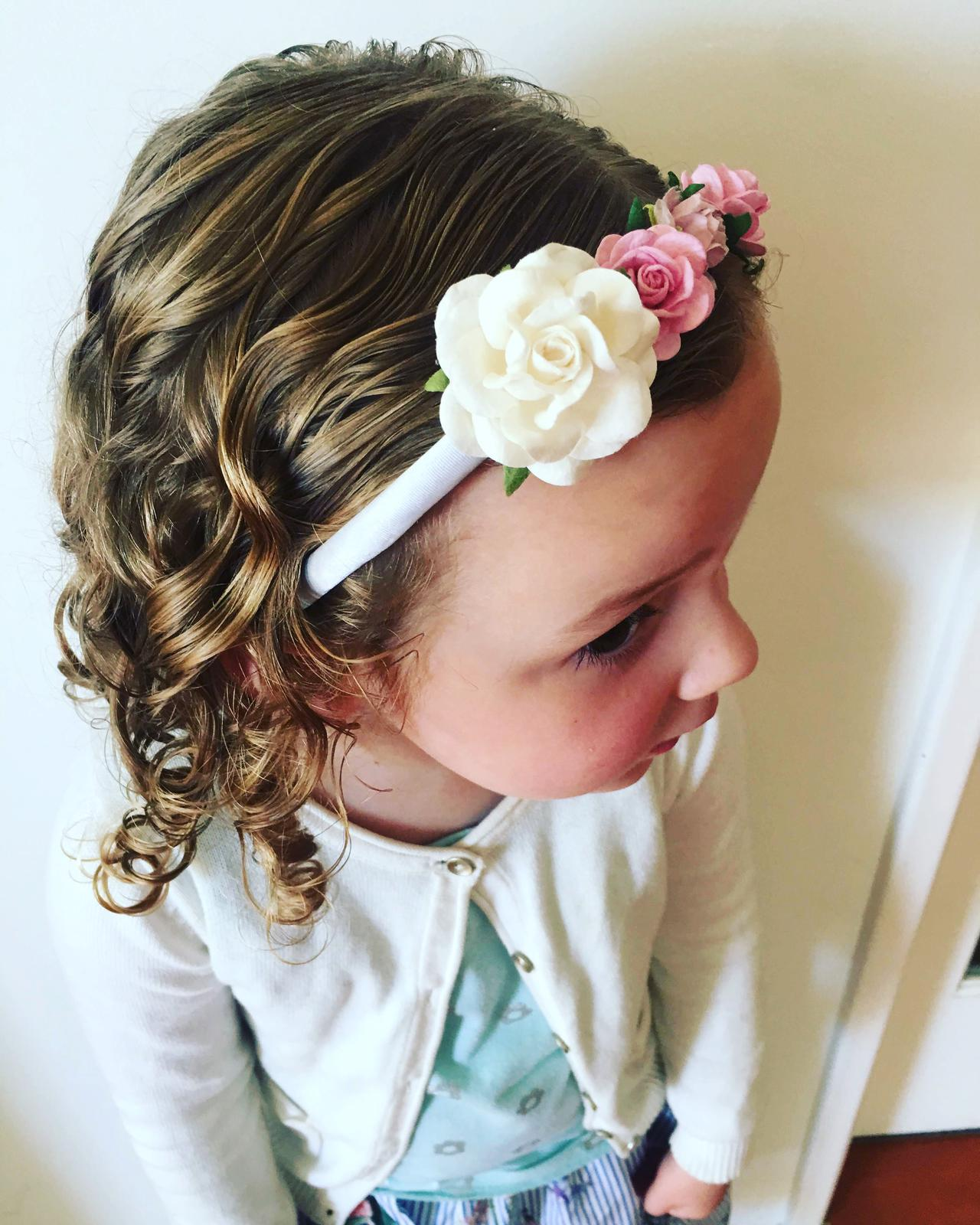 Sweet paper flower headband