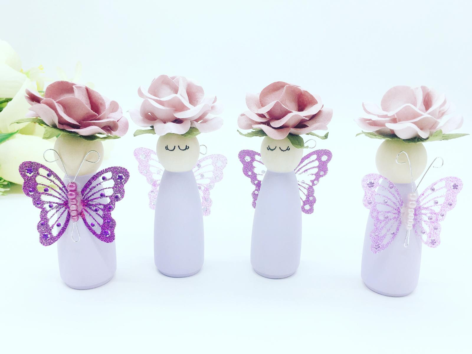 Sweet Lilac Peg Dolls