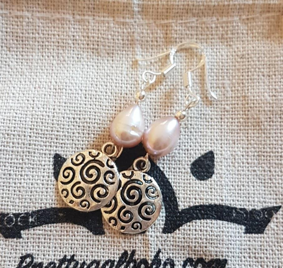 Handmade Freshwater Pearl Charm Earrings