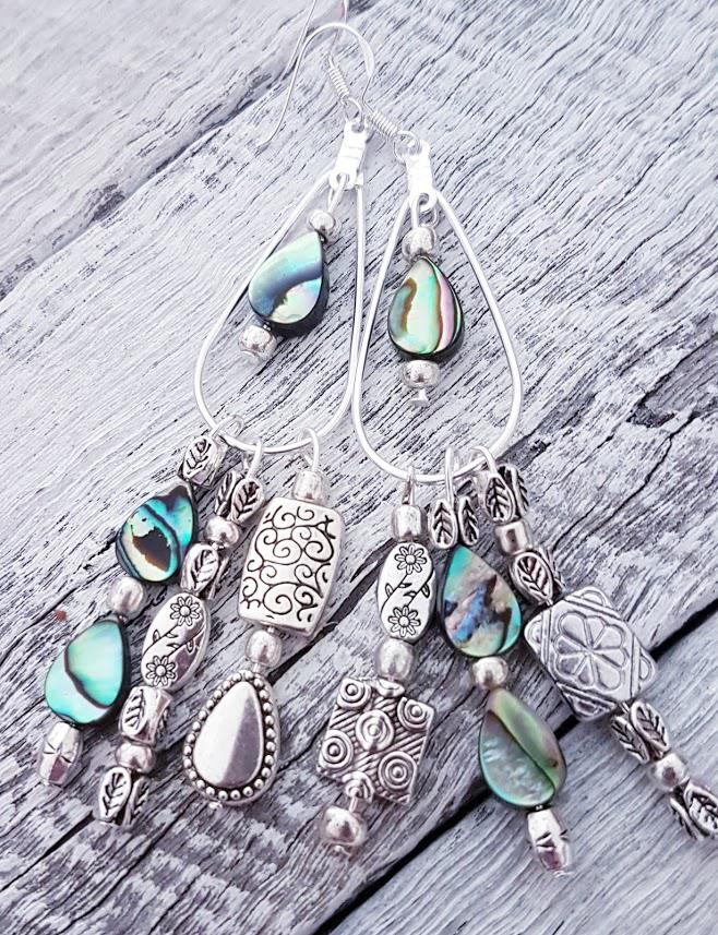 Handmade Abalone Silver Earrings