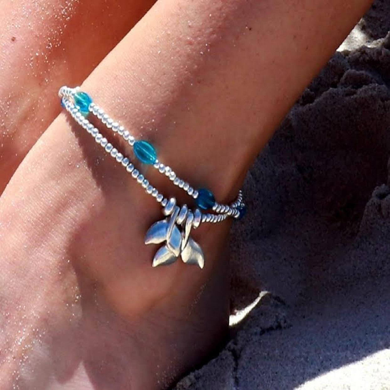 Handmade Mother & Babe Mermaid Anklet