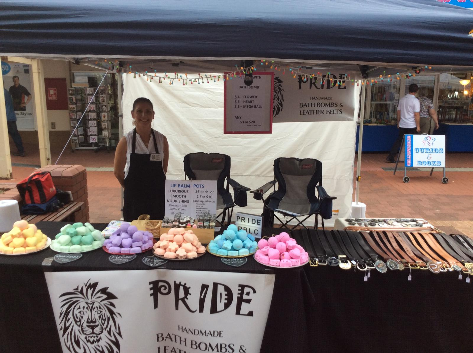 Pride Handcrafted Leather Belts,Handmade Bath Bombs and Lip Care