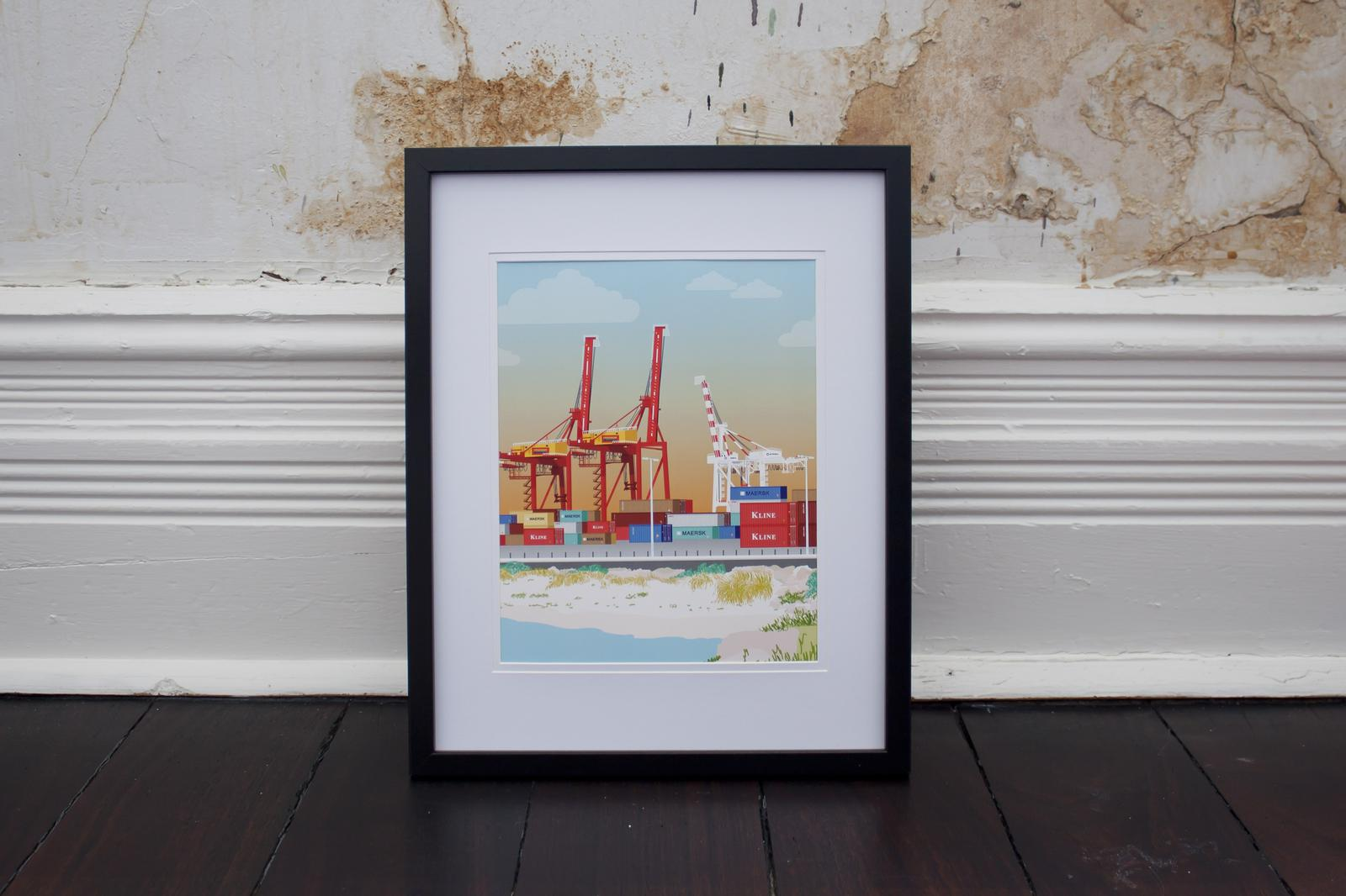 Fremantle Crane Print