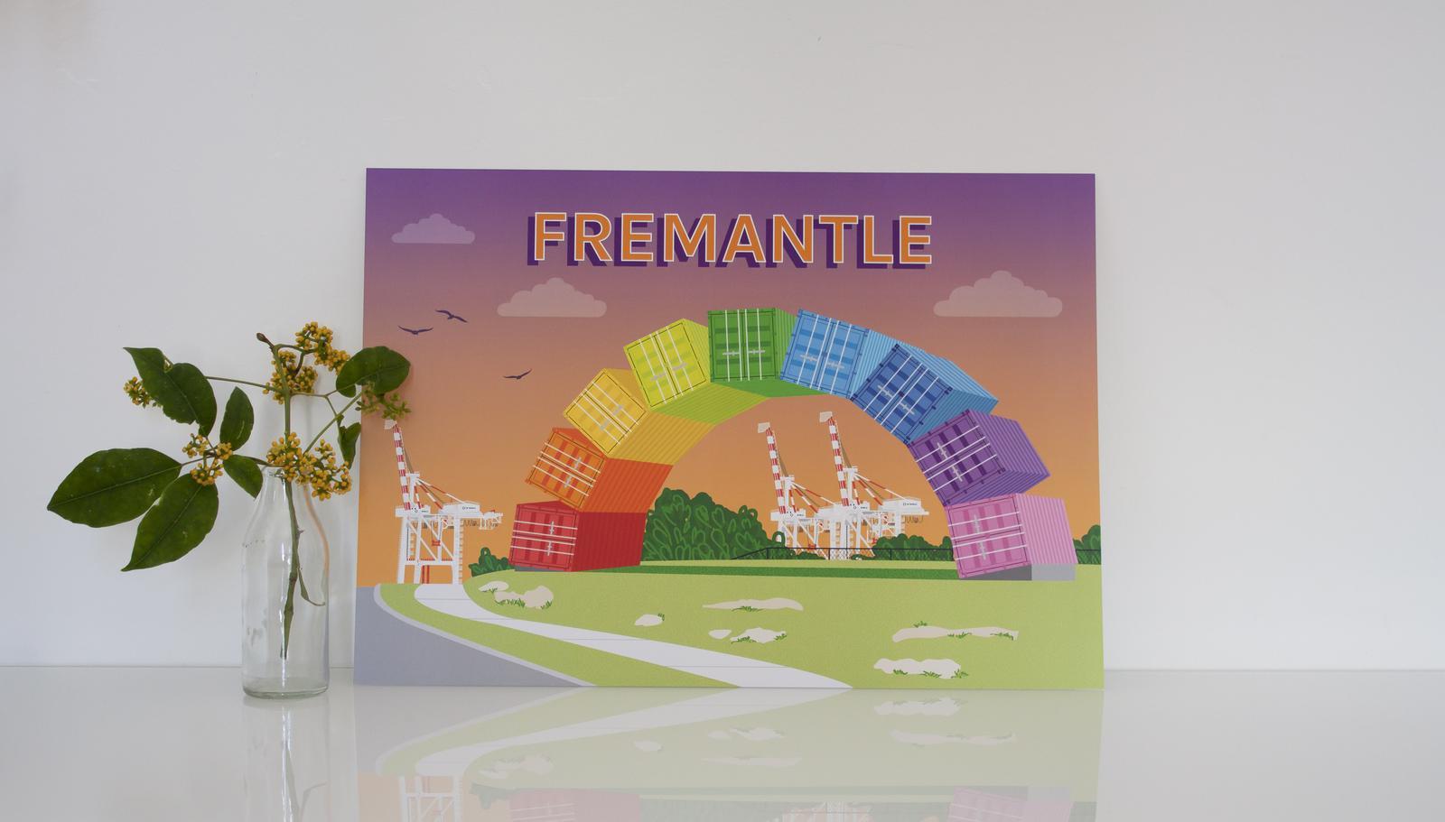 Fremantle Rainbow Container Print