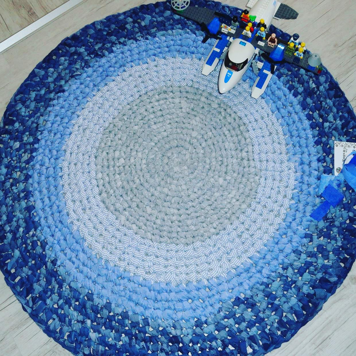 Blue baby rug