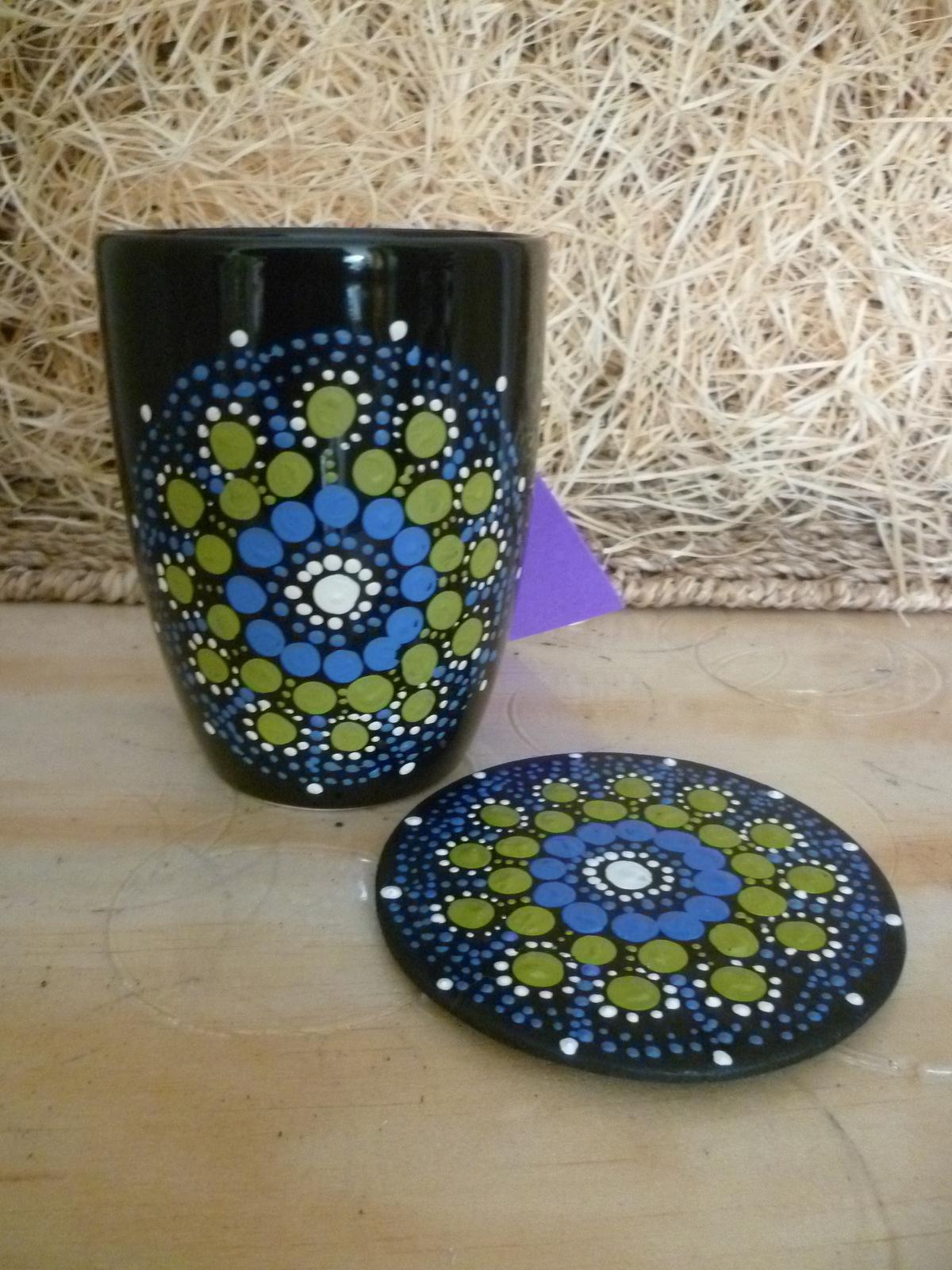 Lotus Mandala Mug and coaster