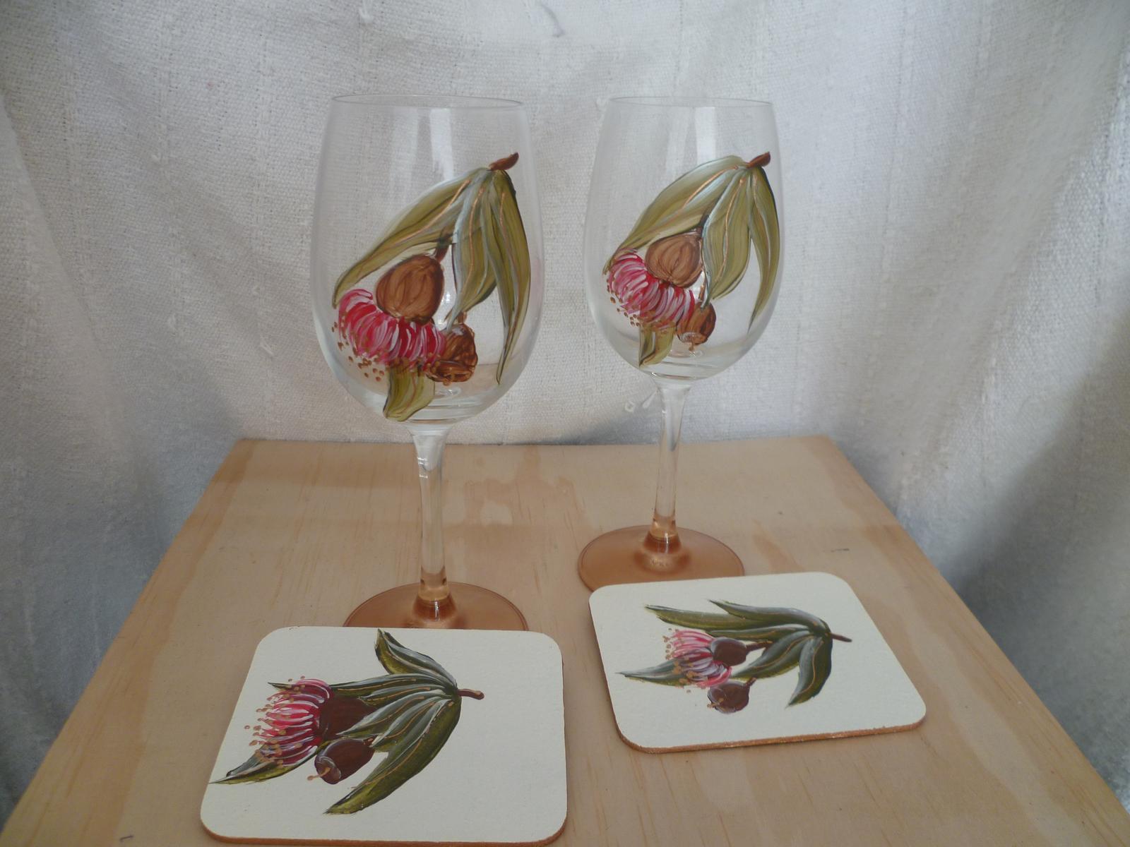 Gumnut Glasses and coasters