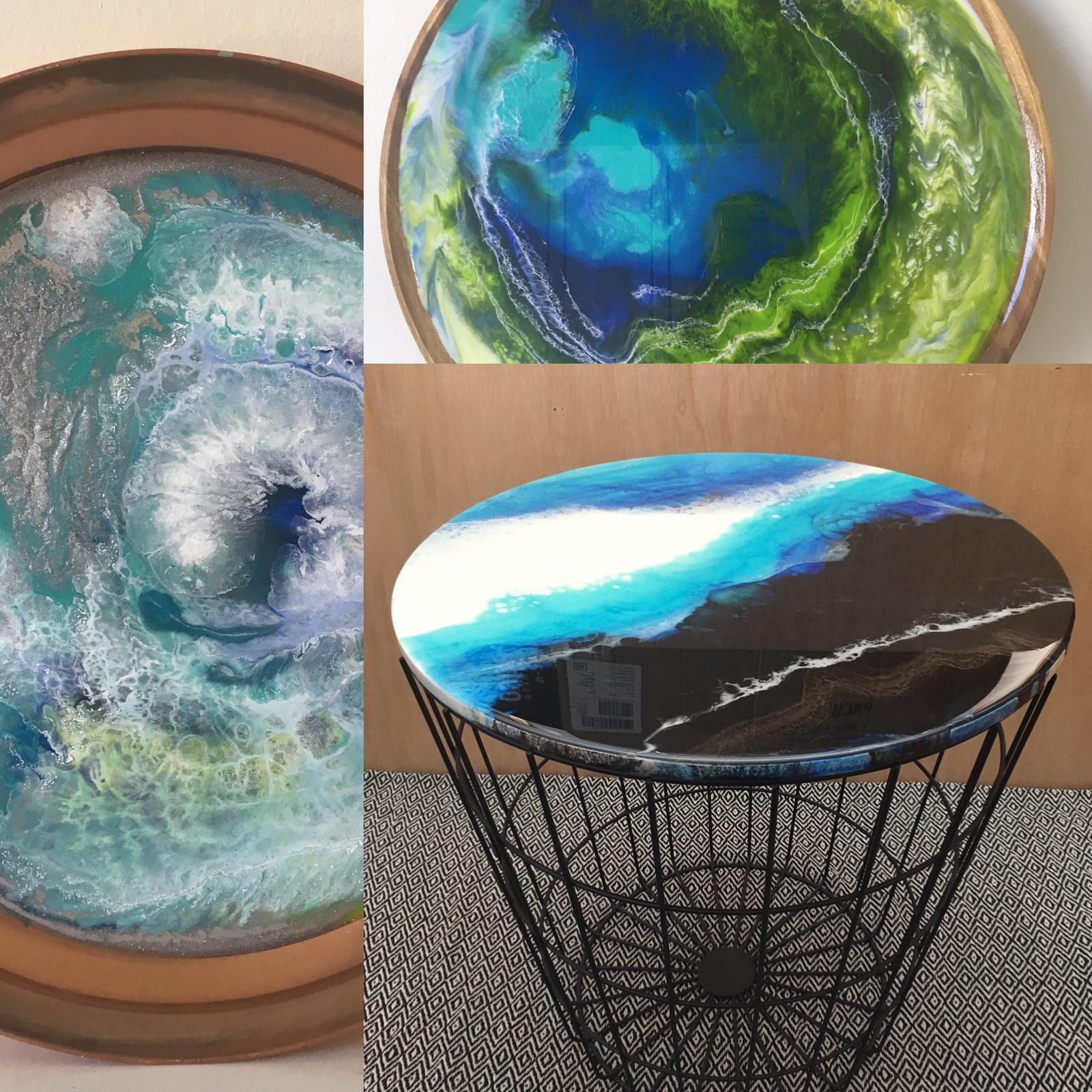Resinating Blue resin art & homewares