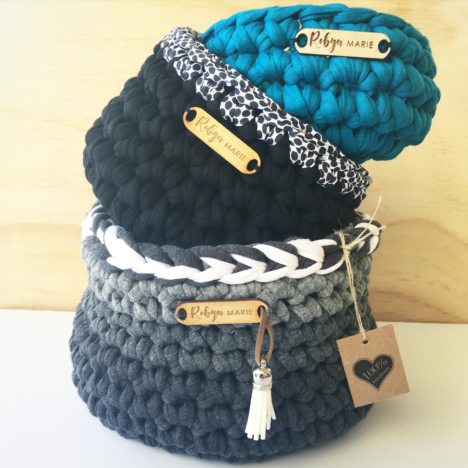Small to large Crochet baskets