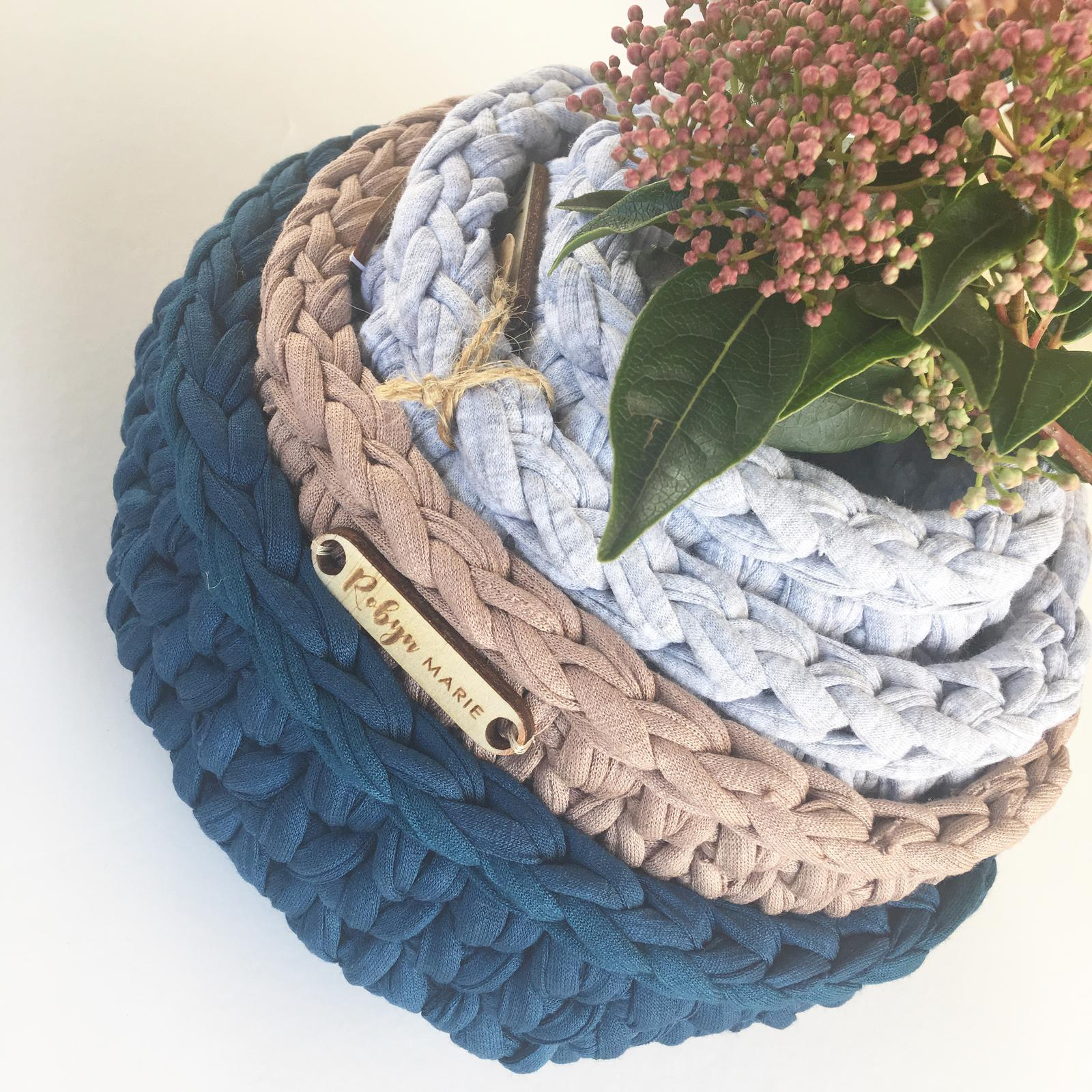 Crochet baskets stack