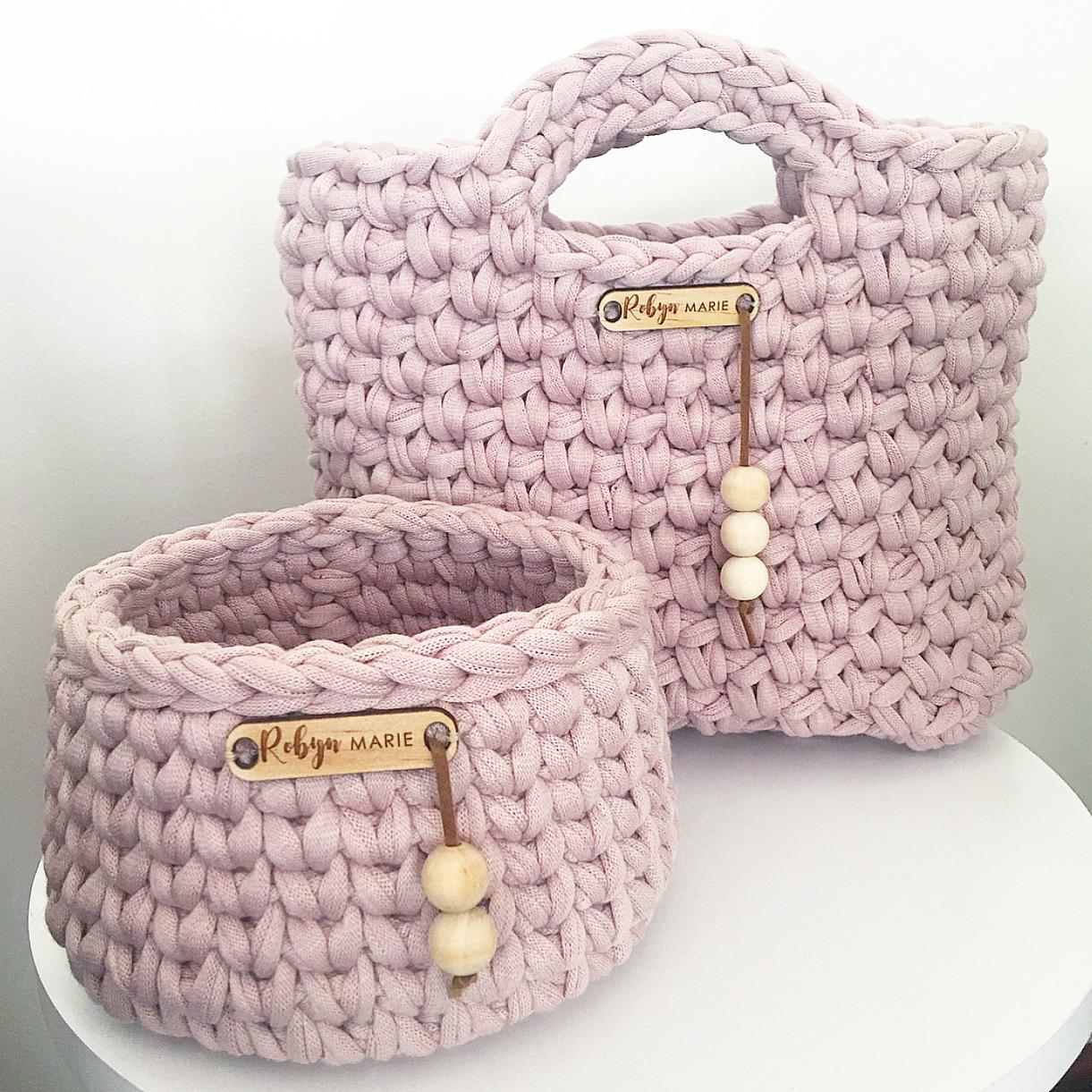 Crochet bag and planter