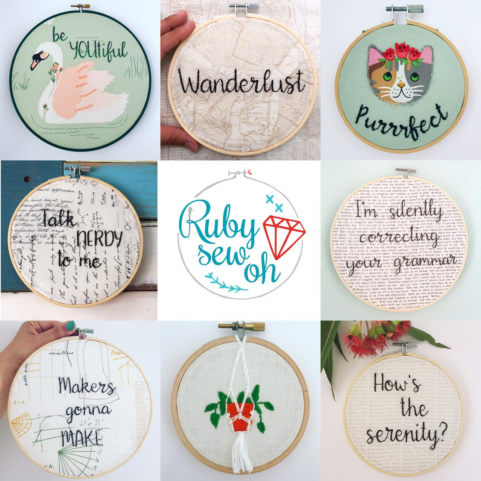 Embroidery hoop art for the home