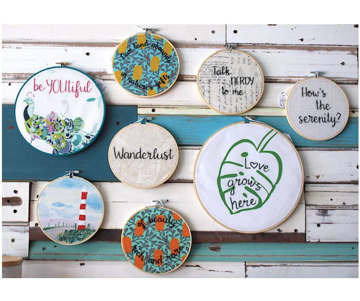 Embroidery hoop art home decor