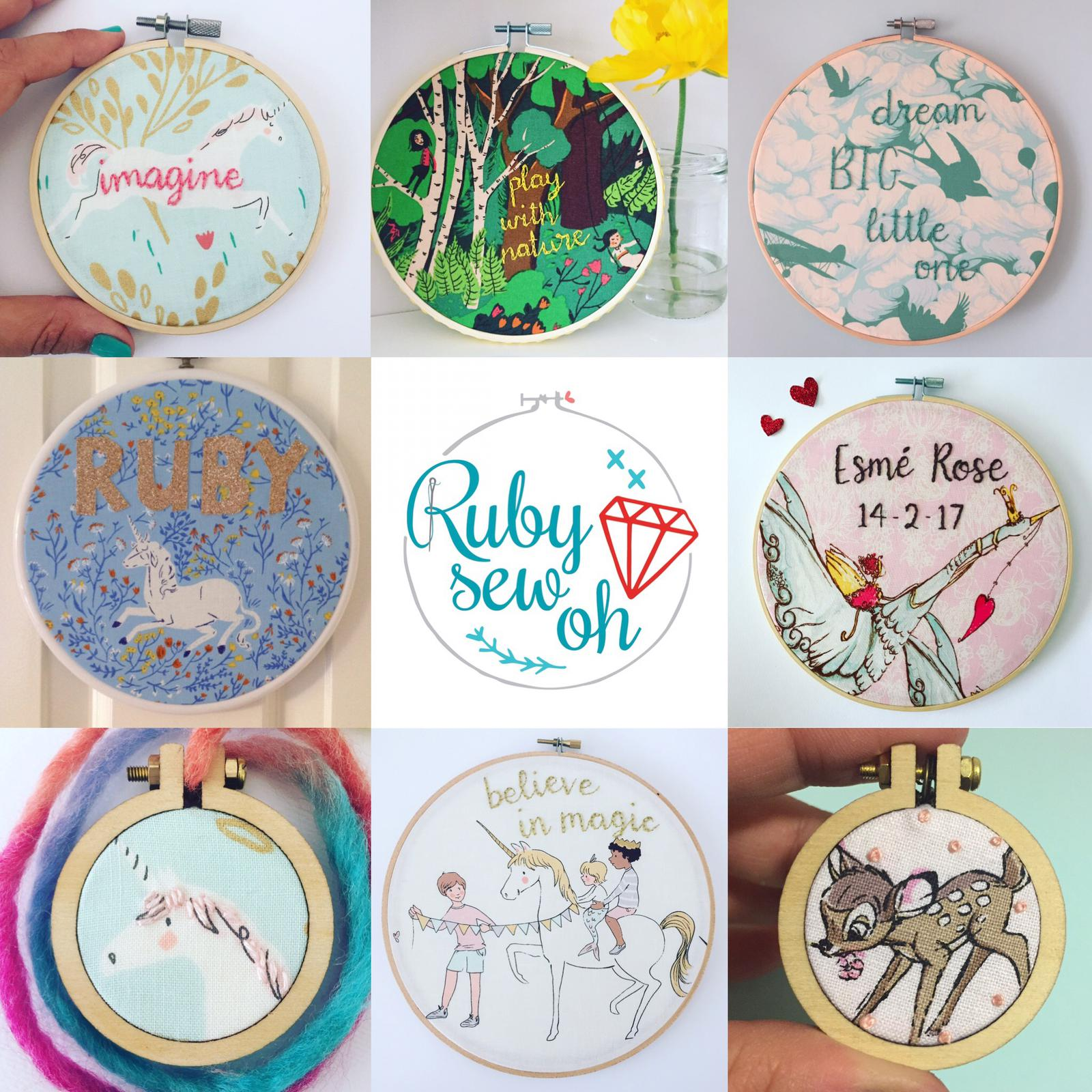 Embroidery hoop art for kids