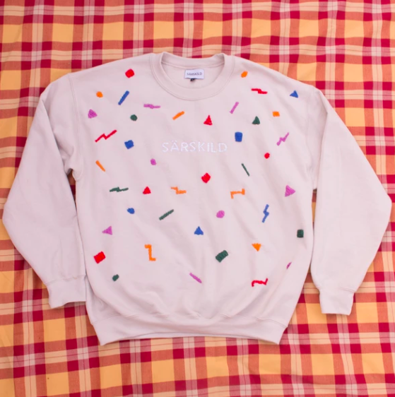 Hand Embroidered 80's Jumper